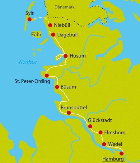 Radurlaub Nordseeküste