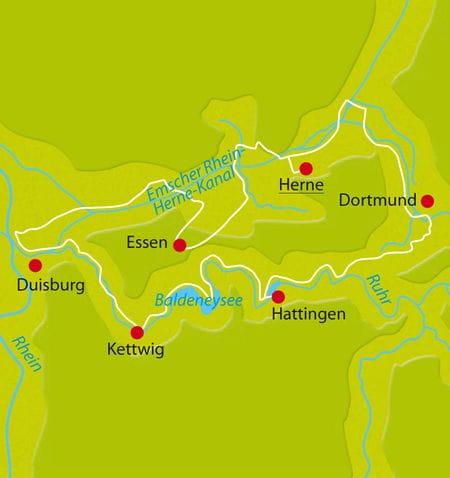 Ruhrgebiet, Radreisen Industriekultur, Herne, Duisburg