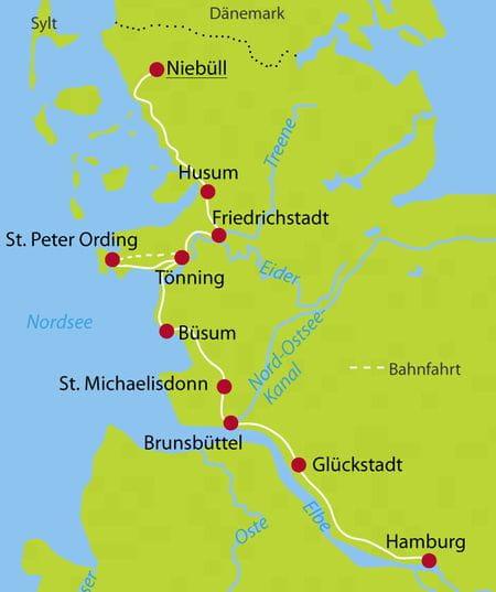 Von Niebüll nach Hamburg