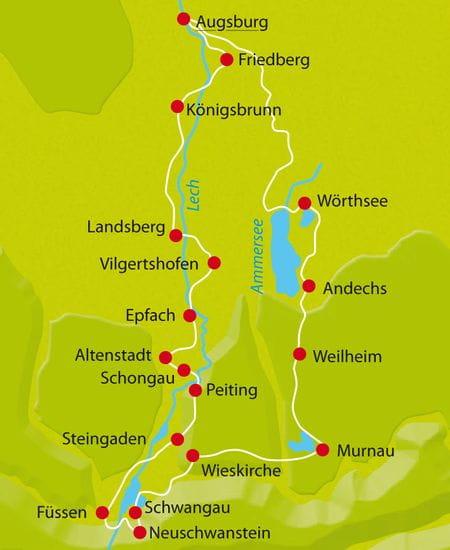 Map Romantic Street Bavaria