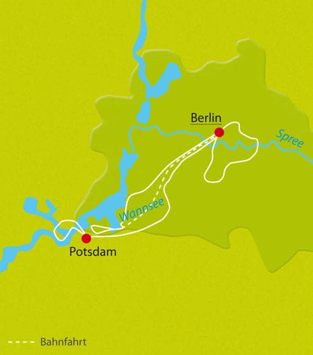 Map cycle tour Berlin