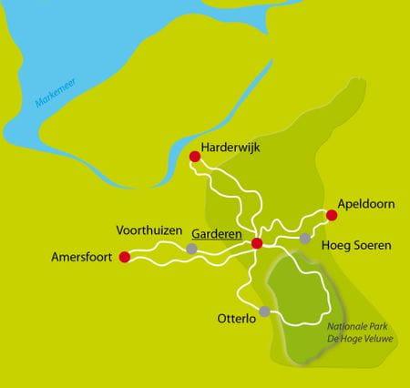 Karte Veluwe Sternfahrt