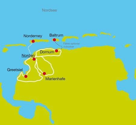 Map Eastern Frisia