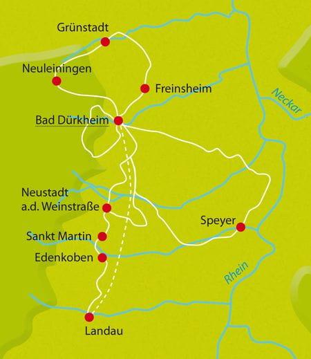 Map Bike Tour Pfalz