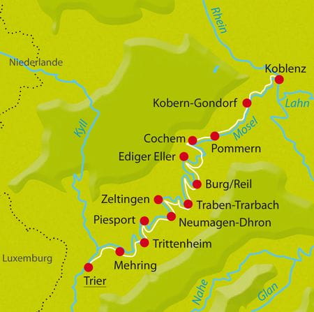 Map Bike Tour Mosel-Winzertour