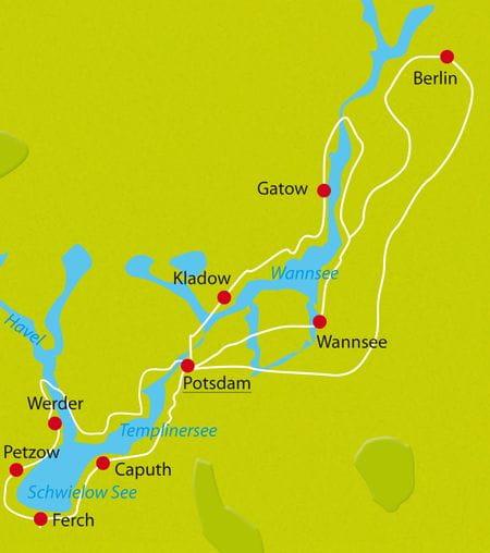 Map Potsdam bike tour