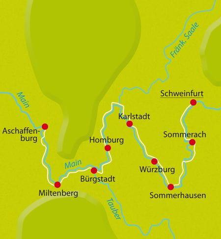 Radreise Karte Main