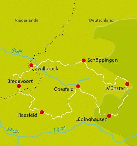 Map Bike Tour Muensterland