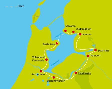 Karte Radurlaub IJsselmeer