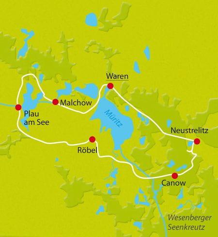 Karte Radurlaub Mecklenburg