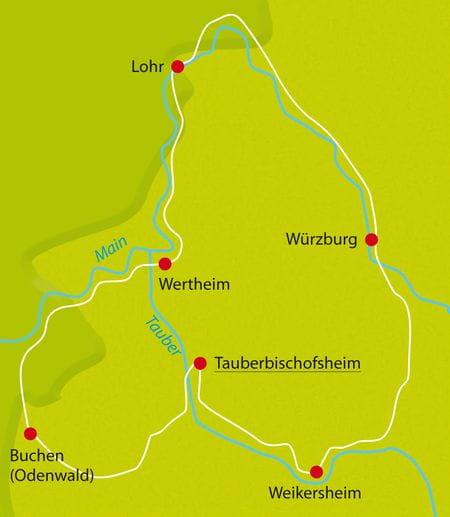 Map Bike Tour Franken