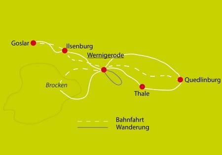 Karte Ostharz Sternfahrt