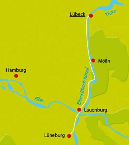 Karte Radtour Salzstrasse