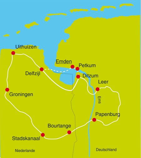 Maps Bike Tour Fehnroute