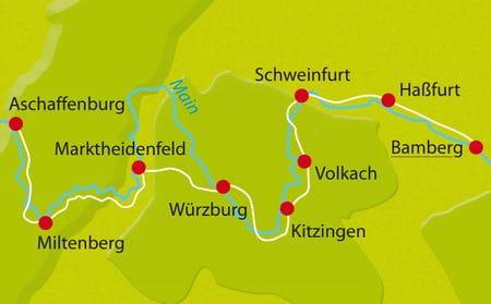 Karte Main-Radweg