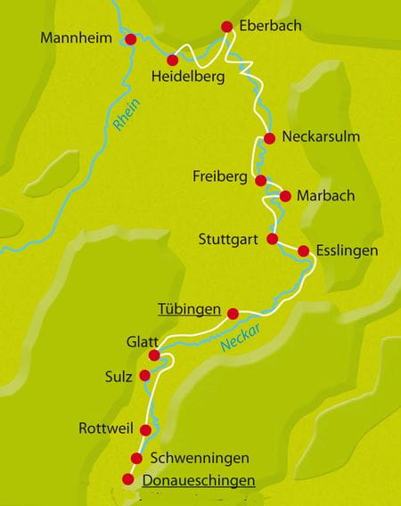 Neckar-Radweg Karte