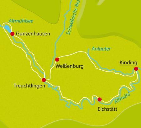Karte Altmuehltal