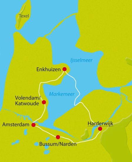 IJsselmeer Karte
