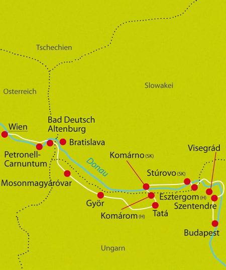 Donau-Radweg, Donau, Wien-Budapest, Wien, Budapest