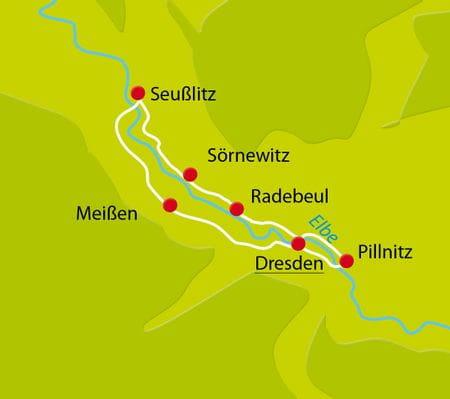 Radurlaub Elbe Weinreise