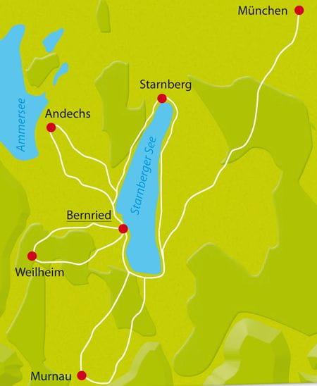 Karte Starnberger See