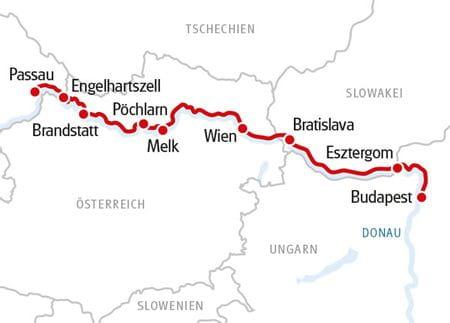 Donau Karte Rad und Schiff SE Manon