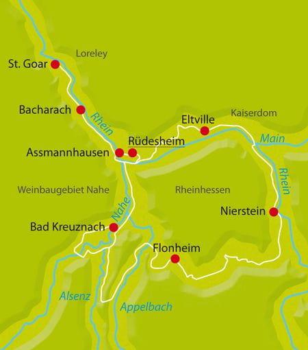 Radreise Rhein Winzertour