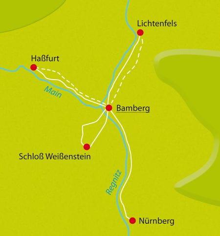 Karte Main-Radweg-Sternfahrt