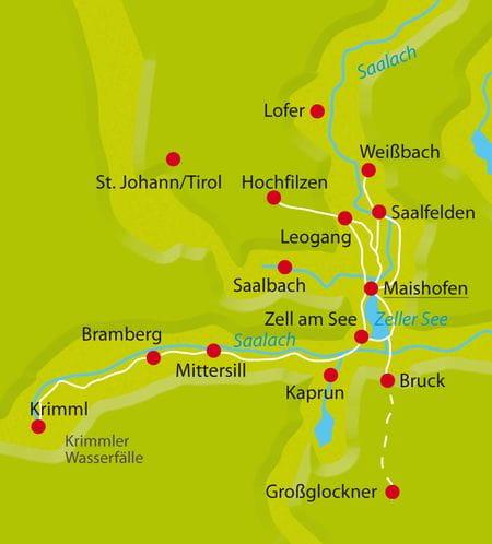 Karte Radtour Panoramasternfahrt