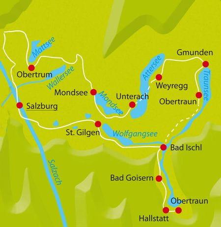 Karte Radtour 10 Seen