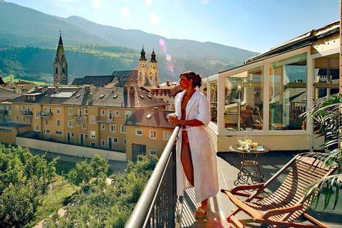 Balkon vom Hotel Krone in Brixen