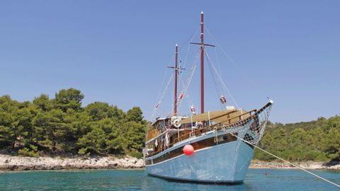Dalmatien Schiff Orkan