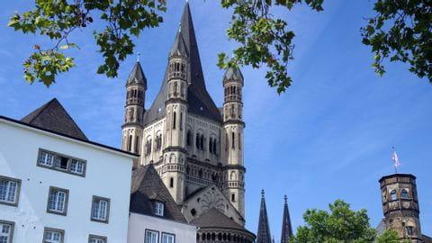 Rhein mit Rad und Schiff Köln