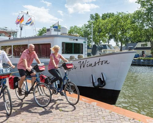 Boat and bike holland